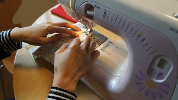 sewing on a sewing machine image