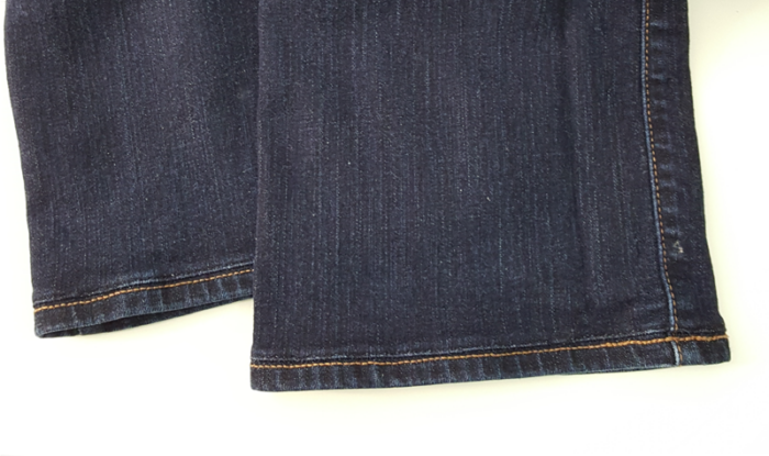 Shortened Jeans With Original Hem image