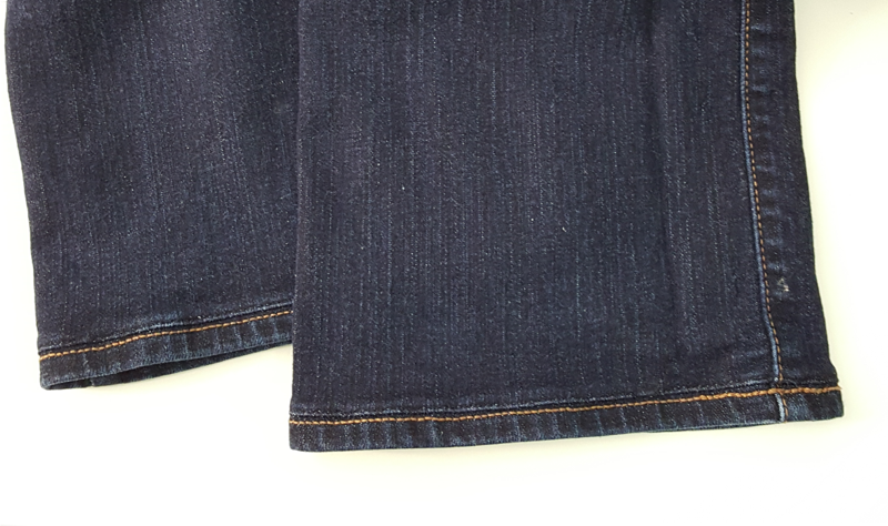 Shortened Jeans With Original Hem