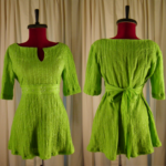 Green Empire Waist Tieback Shirt image