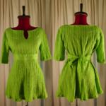 Green Empire Waist Tieback Shirt image