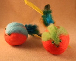 Felted Cat Toys Closeup image