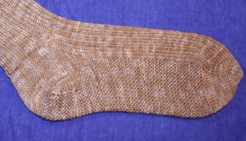 knitted sock stitches image