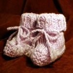 Hand Knitted Baby Booties image