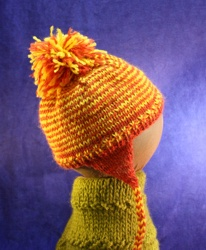 Baby Hat with Pom Pom and Ear Flaps image