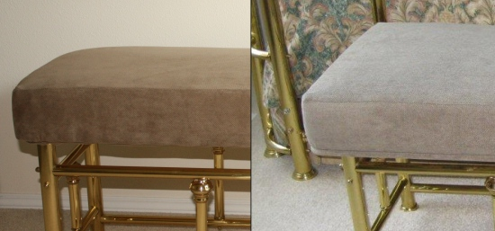 Upholstered Bench Before and After image