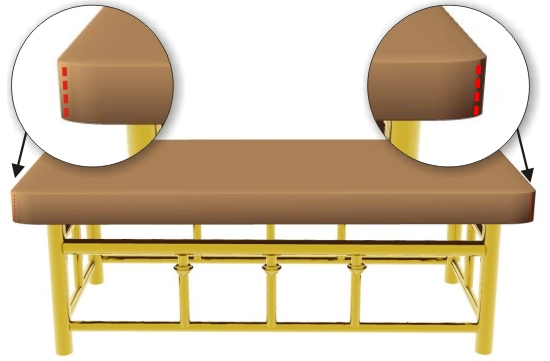 Side Seams On Upholstered Bench