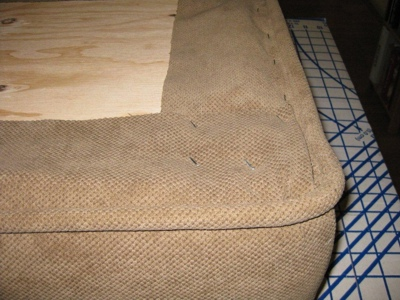 DIY Upholstered Bench Cover With Piping