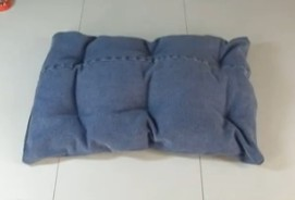 Recycled jeans pillow image