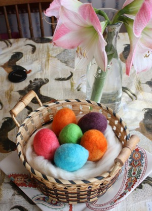 Wool  Felted Easter Eggs image
