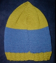 Back of Hat Knitting Pattern