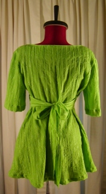 Green Empire Waist Shirt Back View