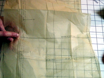 Sewing pattern adjustment
