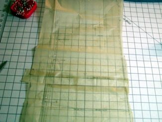 Lengthen a sewing pattern image