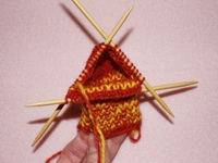 Knitting Sock Pattern Gusset image