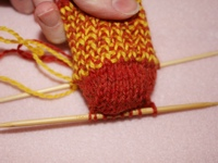 Knitting Sock Pattern Shape Heel
