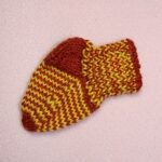 Knitted Sock Pattern Newborn to 6 Months Griffindor Colors