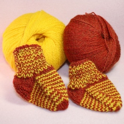 Knitting Sock Pattern Newborn to 6 Months