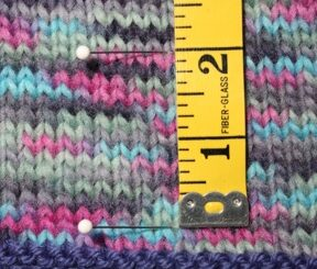 Measure Knitting Gauge Rows image