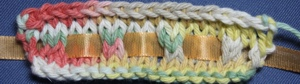 Knitted Eyelets with Ribbon