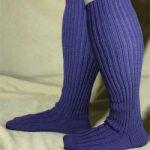 adult wide calf knee sock image