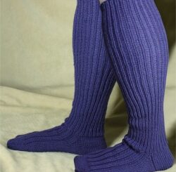adult wide calf knee sock image