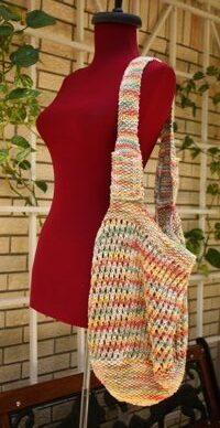 Knitted Mesh Market Bag Pattern