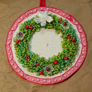 Wreath Design Made With Punch Needle
