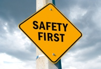 Safety First Sign image