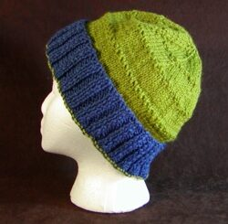 Loose Hat Knitting Pattern image