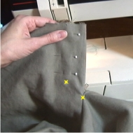 Stitches on Pants Zipper Placket
