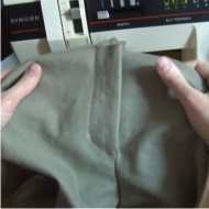Sewn Zipper Placket on Pants